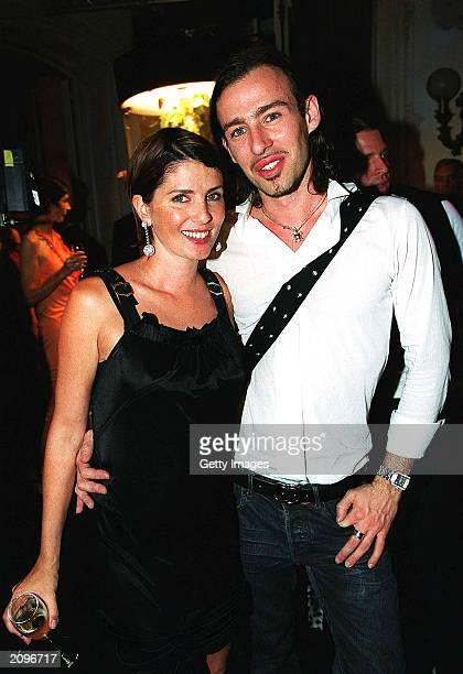Actress Sadie Frost and Alexis Roche attend a fashion show organised by Fawaz Grossi showcasing Galliano designs and Maison de Grisogne jewellery...