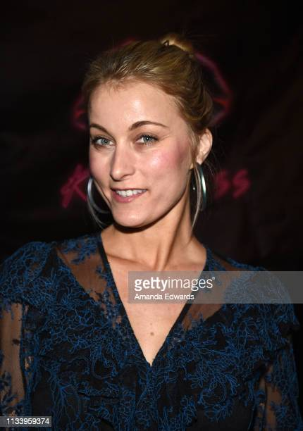 Actress Sadie Katz arrives at the Los Angeles premiere of 'KISS KISS' at the Ahrya Fine Arts Theater by Laemmle on March 05 2019 in Beverly Hills...