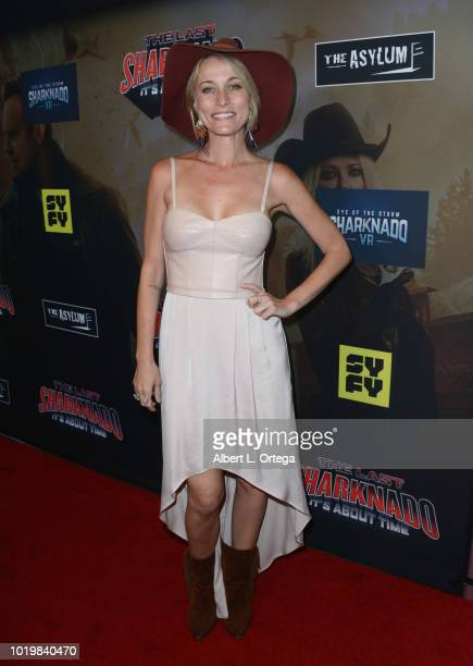 Actress Sadie Katz arrives for the Premiere Of The Asylum And Syfy's 'The Last Sharknado It's About Time' held at Cinemark Playa Vista on August 19...