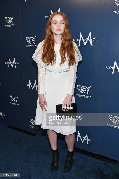 Actress Sadie Sink attends the 2017 Humane Society of the United States to the Rescue New York Gala at Cipriani 42nd Street on November 10 2017 in...