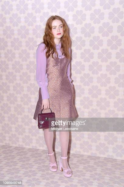 Actress Sadie Sink attends the Kate Spade fashion show during New York Fashion Week at Cipriani 25 Broadway on February 08, 2019 in New York City.