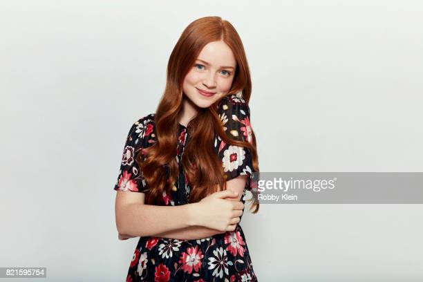 Actress Sadie Sink from Netflix's 'Stranger Things' poses for a portrait during ComicCon 2017 at Hard Rock Hotel San Diego on July 22 2017 in San...