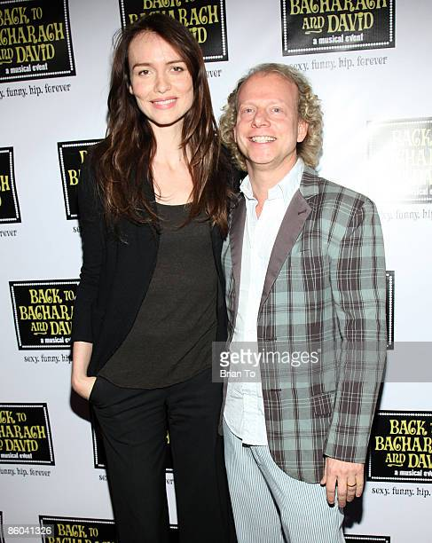 Actress Saffron Burrows and producer Bruce Cohen arrive at Back to Bacharach and David Opening Night at Henry Fonda Theatre on April 19 2009 in...