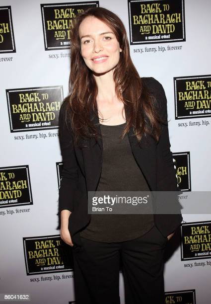 Actress Saffron Burrows arrives at Back to Bacharach and David Opening Night at Henry Fonda Theatre on April 19 2009 in Hollywood California