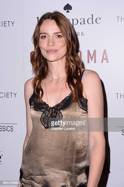 Actress Saffron Burrows attends a screening of Sony Pictures Classics' 'Grandma' hosted by The Cinema Society and Kate Spade at Landmark Sunshine...