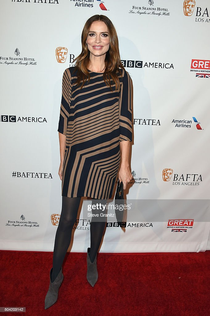 Actress Saffron Burrows attends the BAFTA Los Angeles Awards Season Tea at Four Seasons Hotel Los Angeles at Beverly Hills on January 9, 2016 in Los Angeles, California.