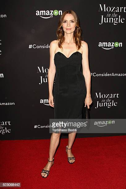 Actress Saffron Burrows attends the Mozart In The Jungle Emmy FYC screening event at Hollywood Roosevelt Hotel on April 21 2016 in Hollywood...