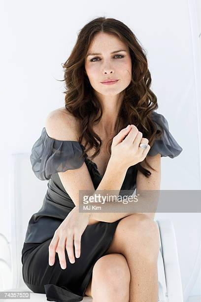 Actress Saffron Burrows poses for a portrait shoot while attending Cannes Film Festival on May 18 2007 in Cannes France