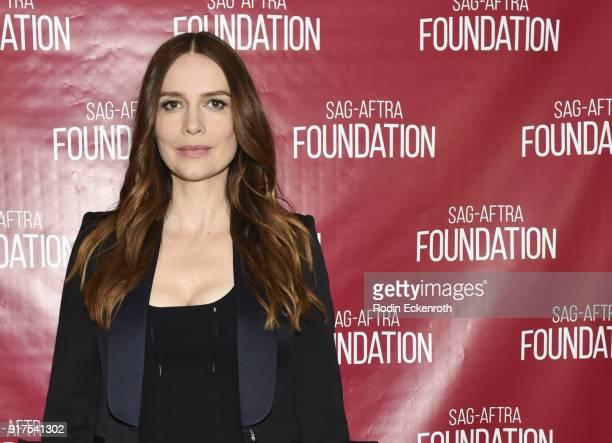 Actress Saffron Burrows poses for portrait at SAGAFTRA Foundation Conversations screening of 'Mozart In The Jungle' at SAGAFTRA Foundation Screening...