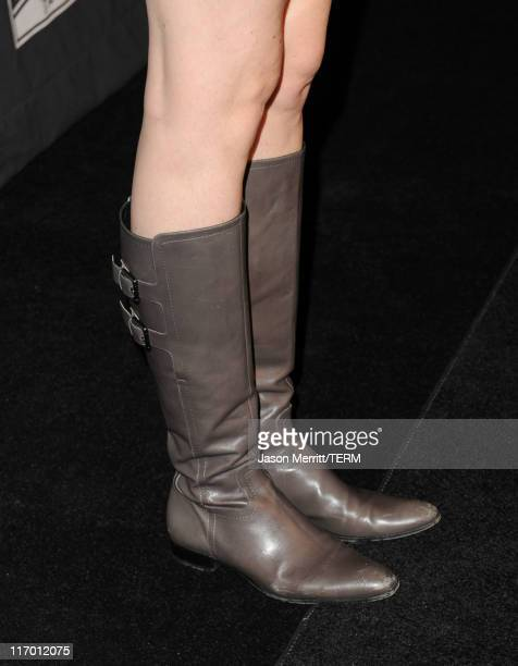 Actress Saffron Burrows Shoe detail attends Montblanc Presents The 24 Hour Plays LA at The Broad Stage on June 18 2011 in Santa Monica California