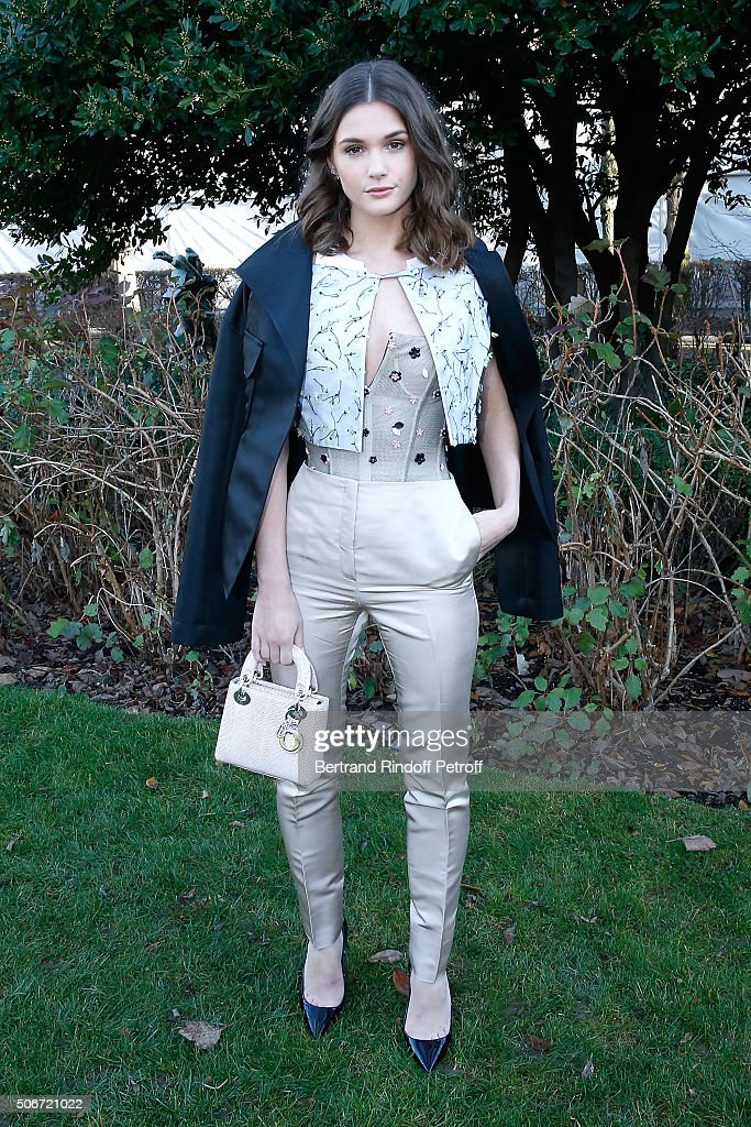 Actress Sai Bennett attends the Christian Dior Spring Summer 2016 show as part of Paris Fashion Week. Held at Musee Rodin on January 25, 2016 in Paris, France.