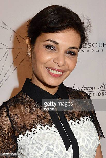 actress Saida Jawal attends the 'Diamond Night by Divinescence Vendome' Harumi Klossowska Jewellery Exhibition Preview As Part Of Art Paris Art Fair...