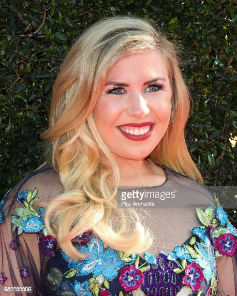 Actress Sainty Nelsen attends the 45th Annual Daytime Creative Arts Emmy Awards at the Pasadena Civic Auditorium on April 27 2018 in Pasadena...