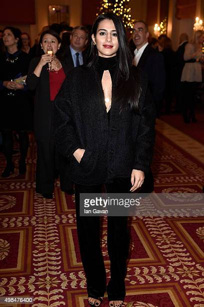 Actress Sair Khan attends the National Youth Theatre fundraiser at Bloomsbury Hotel on November 23 2015 in London England
