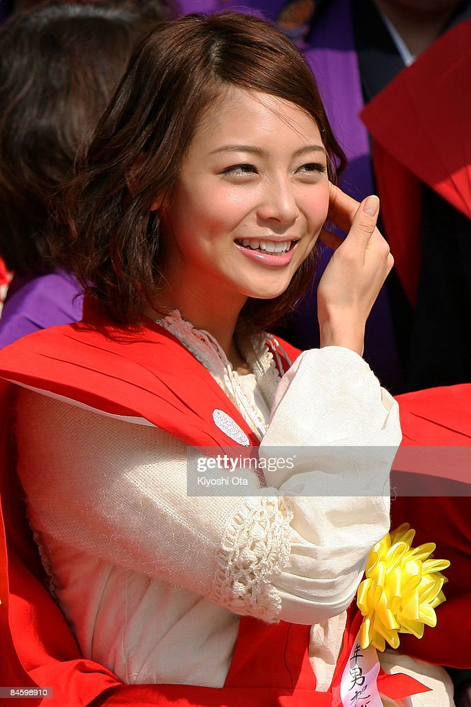 Actress Saki Aibu attends a bean-scattering ceremony at Shinshoji Temple on February 3, 2009 in Narita, Chiba, Japan. The ceremony is held all over Japan on Setsubun which is the name of the day before the beginning of each season, which in this case is on February 3 or 4, one day before the start of spring according to the Japanese lunar calendar. It has been said that throwing beans drives out misfortune and brings in good luck.