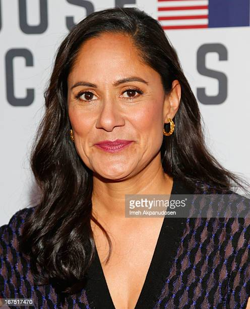 Actress Sakina Jaffrey attends Netflix's 'House Of Cards' For Your Consideration QA Event at Leonard H Goldenson Theatre on April 25 2013 in North...
