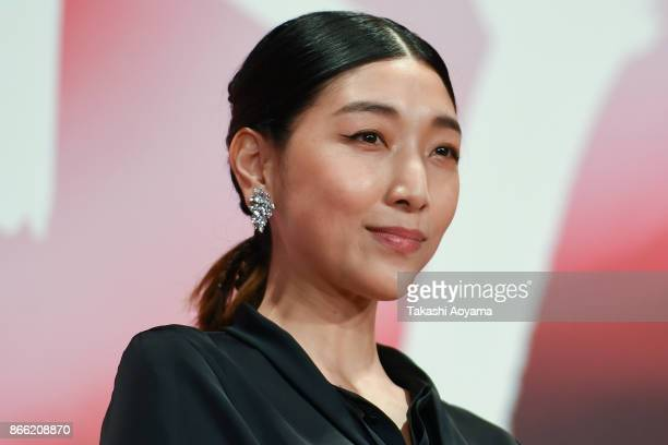 Actress Sakura Ando attends the red carpet of the 30th Tokyo International Film Festival at Roppongi Hills on October 25 2017 in Tokyo Japan
