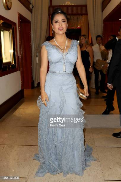 Actress Salama hayek is seen at 'Le Majestic' hotel during the 71st annual Cannes Film Festival at on May 13 2018 in Cannes France