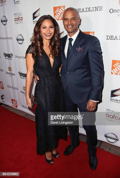 Actress Salli Richardson and husband actor Dondre Whitfield attend the 8th Annual AAFCA Awards at Taglyan Complex on February 8 2017 in Los Angeles...