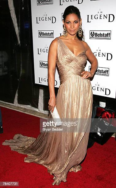 """Actress Salli Richardson attends Warner Brothers' premiere of """"I Am Legend"""" at The WaMu Theater at Madison Square Garden December 11, 2007 in New..."""