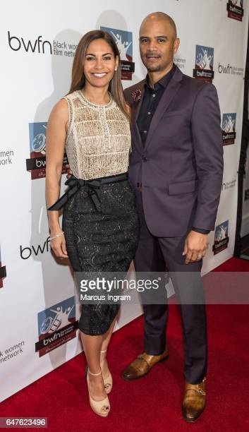 Actress Salli Richardson Whitfield and actor Dondre Whitfield attend the 2017 Black Women Film Summit Untold Stories awards luncheon at Atlanta...