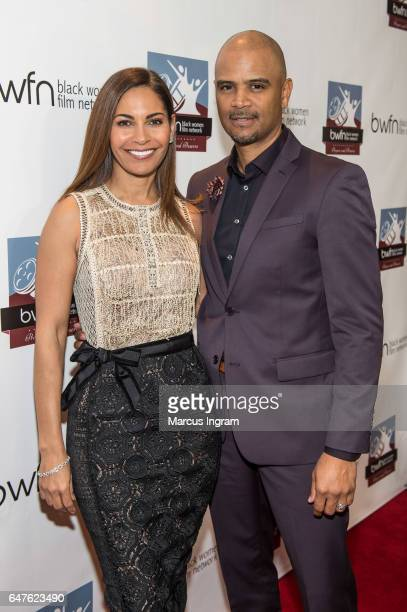 Actress Salli Richardson Whitfield and Dondre Whitfield attend the 2017 Black Women Film Summit Untold Stories awards luncheon at Atlanta Marriott...