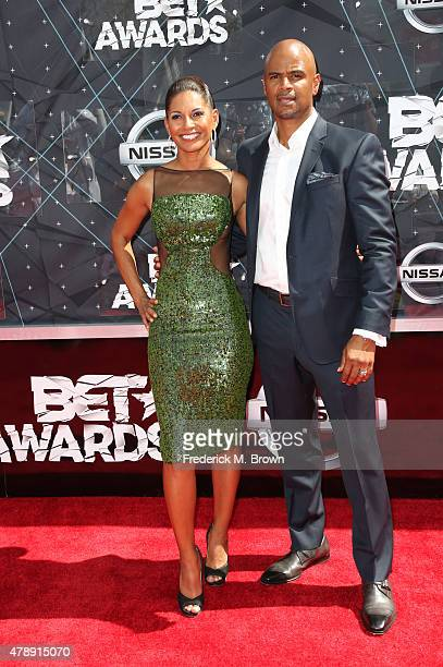 Actress Salli RichardsonWhitfield and Dondre Whitfield attend the 2015 BET Awards at the Microsoft Theater on June 28 2015 in Los Angeles California