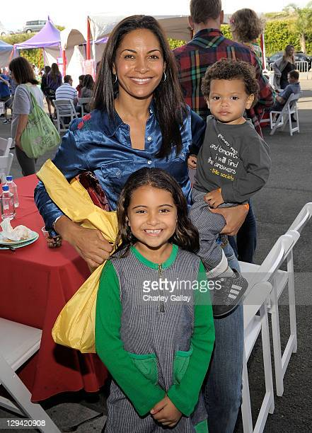 Actress Salli RichardsonWhitfield and her children Parker Whitfield and Dre Whitfield attend the PS ARTS 14th annual Express Yourself at Barker...