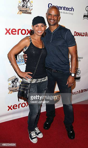 Actress Salli RichardsonWhitfield and husband actor Dondre Whitfield attend the KIS Foundation's 12th Annual Celebrity Bowling Challenge at PINZ...