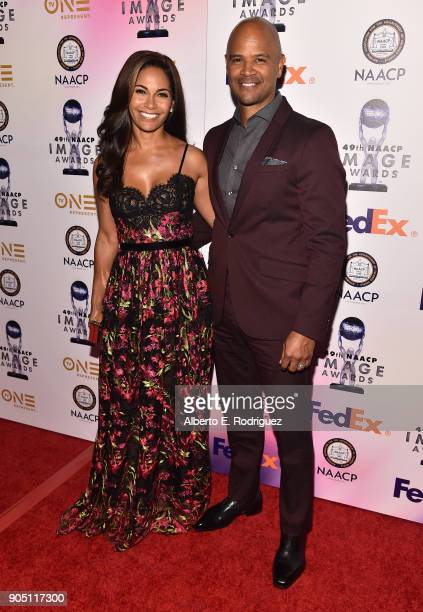 Actress Salli RichardsonWhitfield and Producer Dondre Whitfield attend the 49th NAACP Image Awards NonTelevised Award Show at The Pasadena Civic...