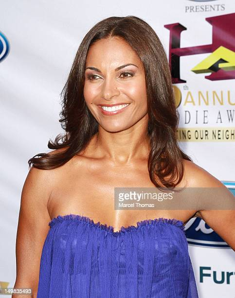 Actress Salli Richardson-Whitfield walks the blue carpet at the 10th Annual Ford Hoodie Awards at MGM Garden Arena on August 4, 2012 in Las Vegas,...