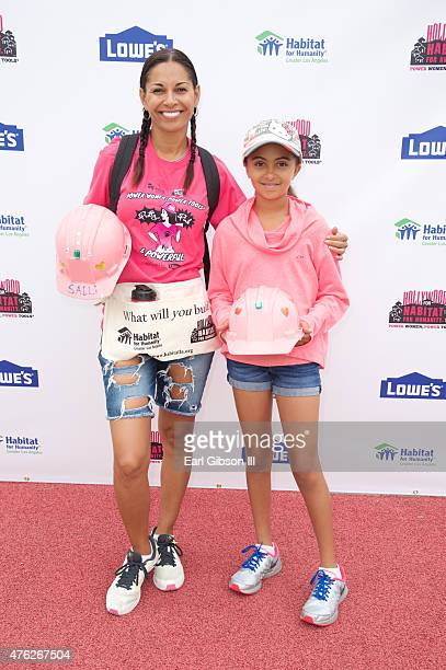 Actress Sallie Richardson Whitfield and daughter Parker Whitfield attend the Los Angeles 'Power Women Habitat For Humanity' on June 6 2015 in...