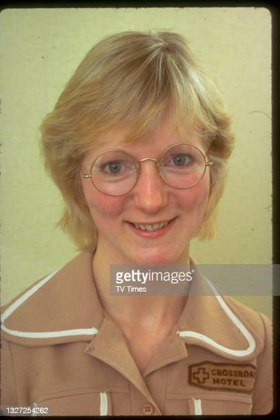 Actress Sally Adcock, known for her role as Jane Smith in television soap Crossroads, circa 1974.
