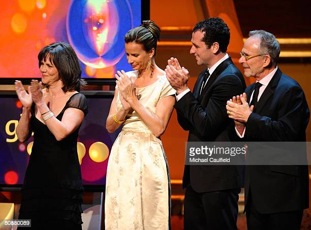 Actress Sally Field, Actress Rachel Griffith, Actor Matthew Rhys and Actor Ron Rifkin at the 19th Annual GLAAD Media Awards on April 25, 2008 at the...