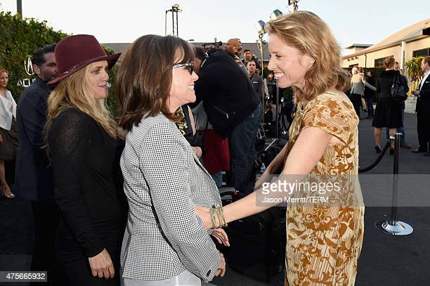 Actress Sally Field and director Amy Redford attend the 2015 Sundance Institute Celebration Benefit at 3LABS on June 2 2015 in Culver City California