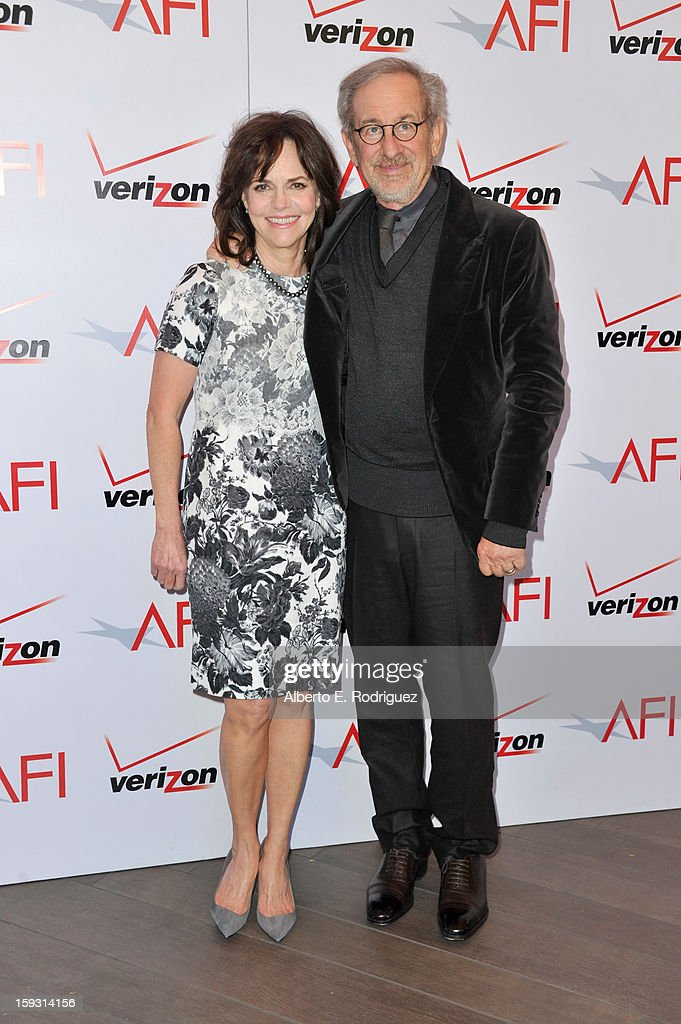 Actress Sally Field (L) and director Steven Spielberg attend the 13th Annual AFI Awards at Four Seasons Los Angeles at Beverly Hills on January 11, 2013 in Beverly Hills, California.