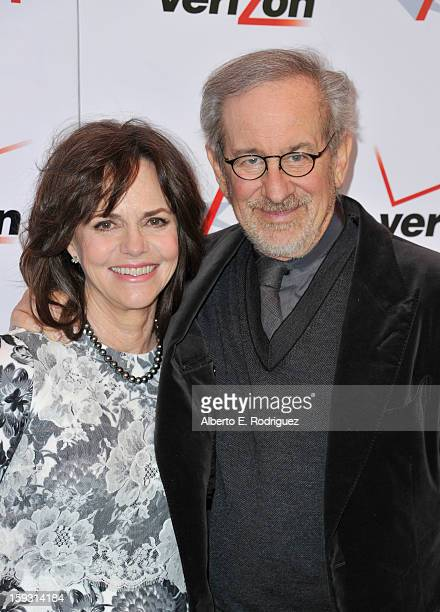 Actress Sally Field and director Steven Spielberg attend the 13th Annual AFI Awards at Four Seasons Los Angeles at Beverly Hills on January 11 2013...