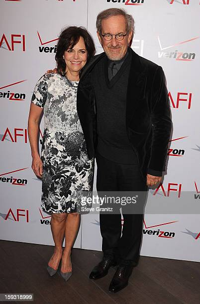 Actress Sally Field and director Steven Spielberg attend the 13th Annual AFI Awards Luncheon at the Four Seasons Hotel Los Angeles at Beverly Hills...