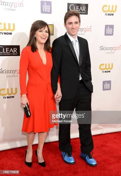 Actress Sally Field and her son Sam Greisman attend the Critics' Choice Movie Awards 2013 with Skinnygirl Cocktails at Barkar Hangar on January 10...