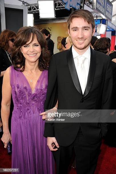 Actress Sally Field and son Sam Greisman attends the 19th Annual Screen Actors Guild Awards at The Shrine Auditorium on January 27 2013 in Los...