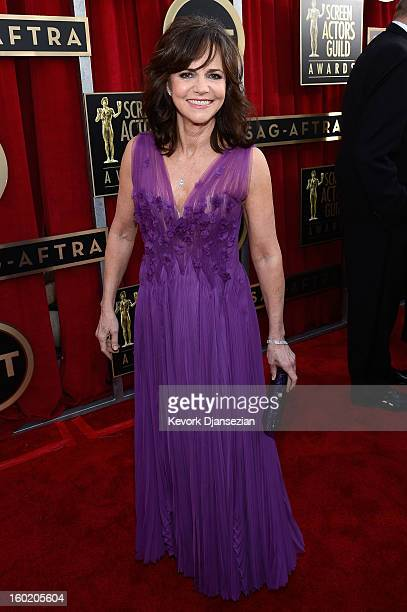 Actress Sally Field arrives at the 19th Annual Screen Actors Guild Awards held at The Shrine Auditorium on January 27, 2013 in Los Angeles,...