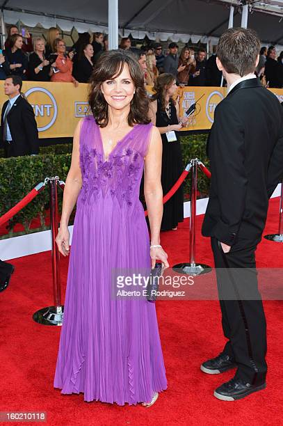 Actress Sally Field arrives at the 19th Annual Screen Actors Guild Awards held at The Shrine Auditorium on January 27 2013 in Los Angeles California