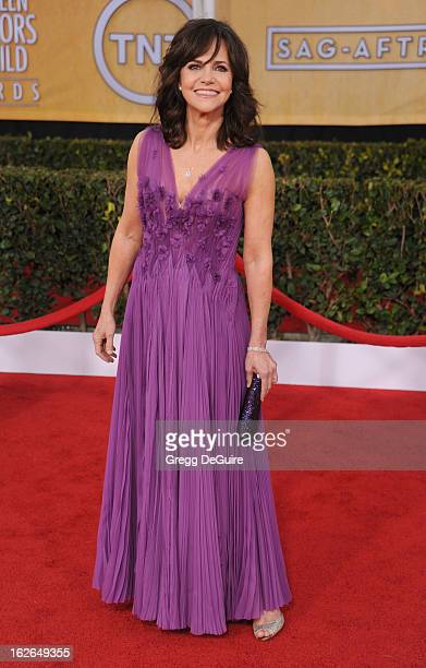 Actress Sally Field arrives at the 19th Annual Screen Actors Guild Awards at The Shrine Auditorium on January 27 2013 in Los Angeles California