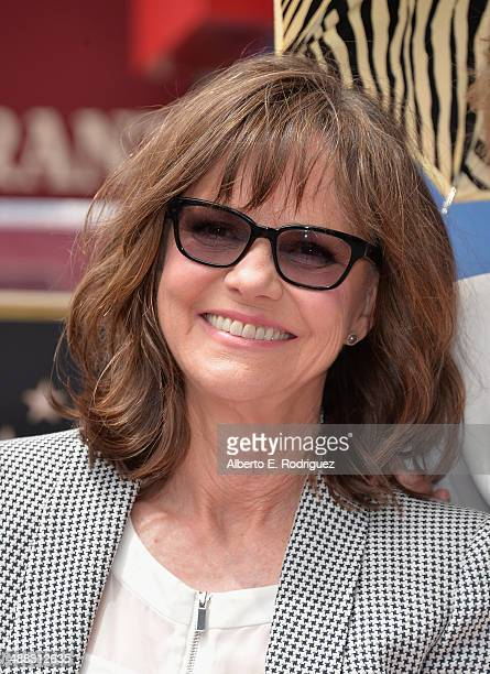 Actress Sally Field attends a ceremony honoring her with the 2524th Star on the Hollywood Walk of fame on May 5 2014 in Hollywood California