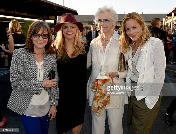 Actress Sally Field Founder of The Communication Group Clare Munn Christina KummerHardt and actress Maria Bello attend the 2015 Sundance Institute...