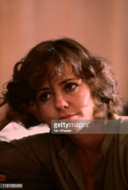 "Actress Sally Field sits on set during filming of ""Beyond the Poseidon Adventure"" in film studio in Hollywood, California, USA, circa 1978"