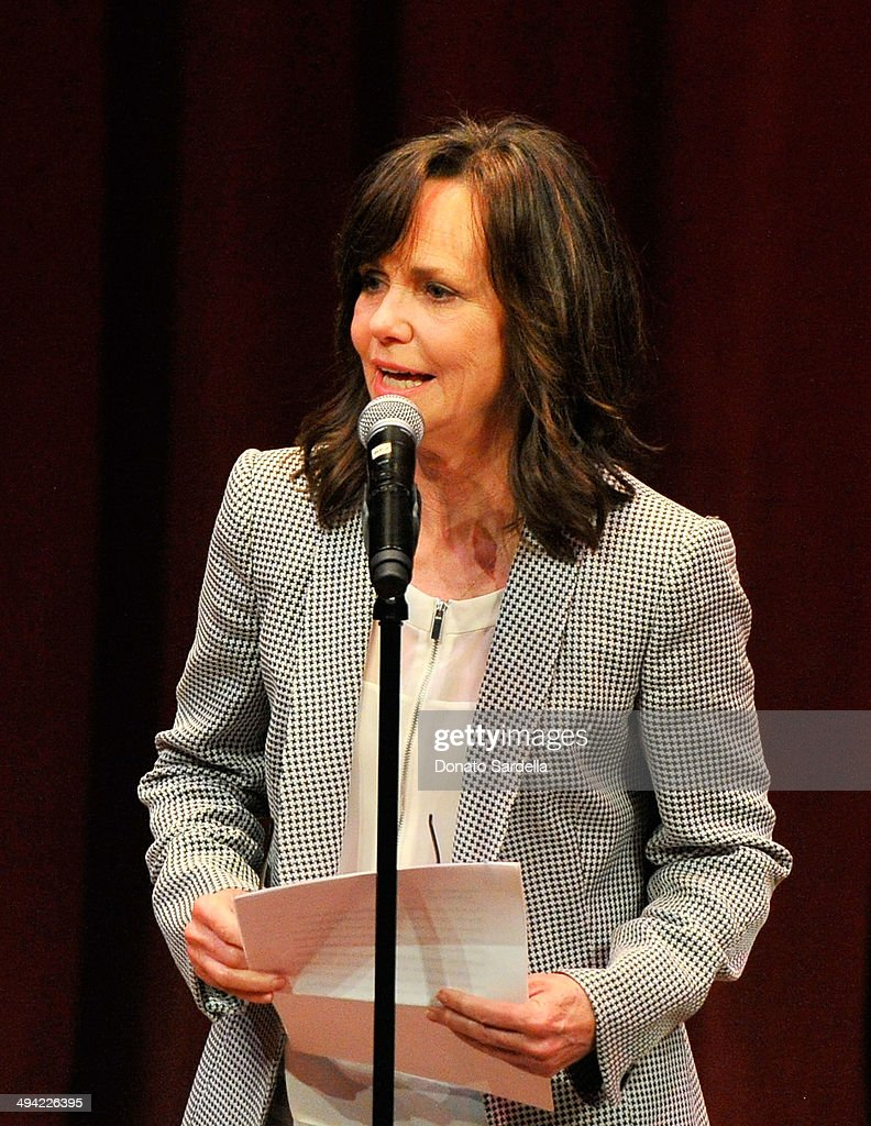 Actress Sally Field the first annual Poetic Justice Fundraiser for the Coalition For Engaged Education at the Herb Alpert Educational Village on May 28, 2014 in Santa Monica, California.