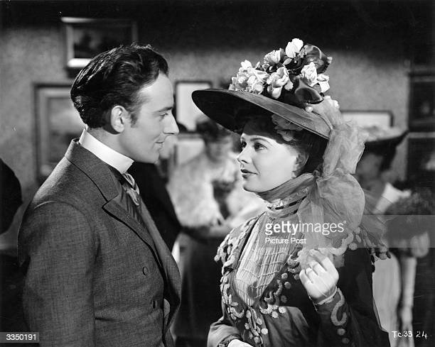 Actress Sally Gray and actor Michael Wilding star in the General Films production of Compton Mackenzie's Edwardian romance 'Carnival'.