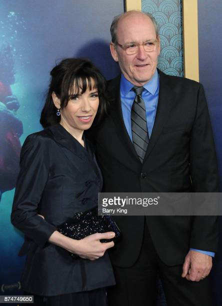 Actress Sally Hawkins and actor Richard Jenkins attend the premiere of Fox Searchlight Pictures' 'The Shape Of Water' at the Academy Of Motion...