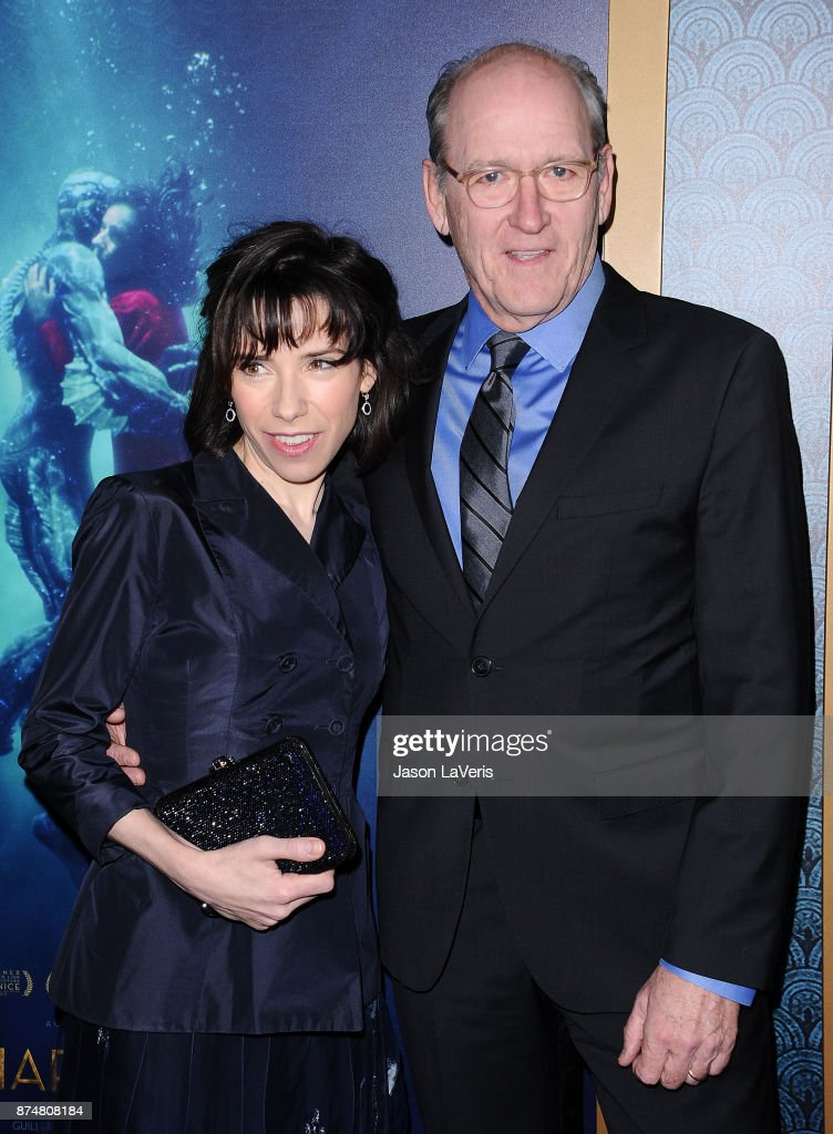Actress Sally Hawkins and actor Richard Jenkins attend the premiere of 'The Shape of Water' at the Academy of Motion Picture Arts and Sciences on November 15, 2017 in Los Angeles, California.